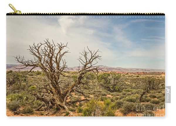 Gnarled Juniper Tree In Arches Carry-all Pouch
