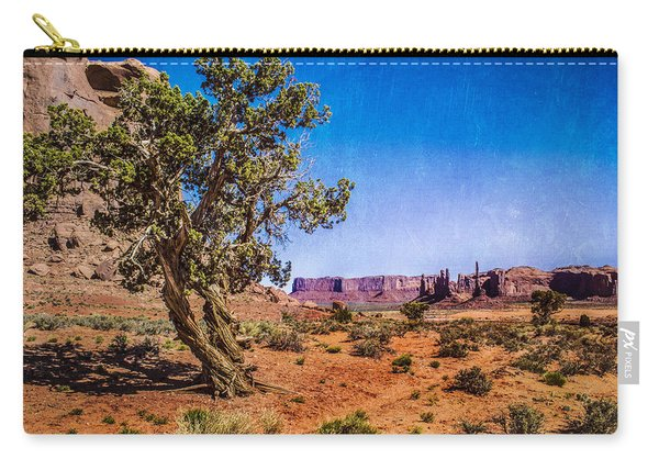 Gnarled Utah Juniper At Monument Vally Carry-all Pouch