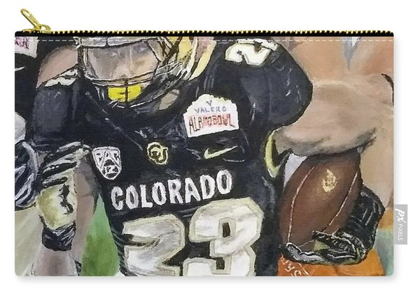 Carry-all Pouch featuring the painting Go Buffs by Kevin Daly