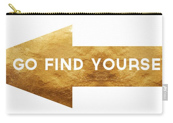 Go Find Yourself- Art By Linda Woods Carry-all Pouch