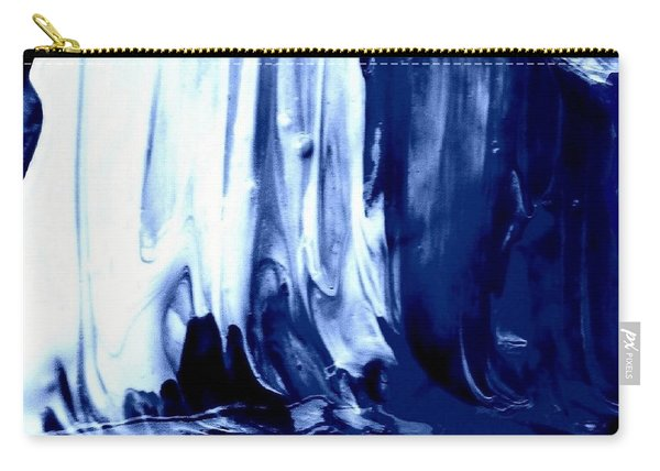 Go With The Flow Blue Abstract Carry-all Pouch
