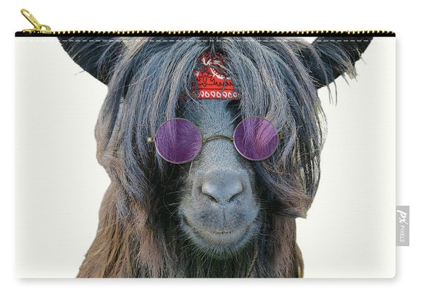 Goat Hippie Red Bandana Americana Carry-all Pouch