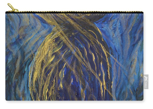 Gold And Blue Latte Stone Carry-all Pouch