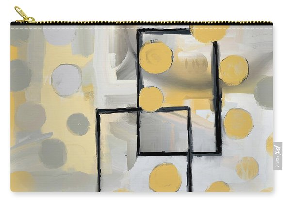 Gold And Grey Abstract Carry-all Pouch
