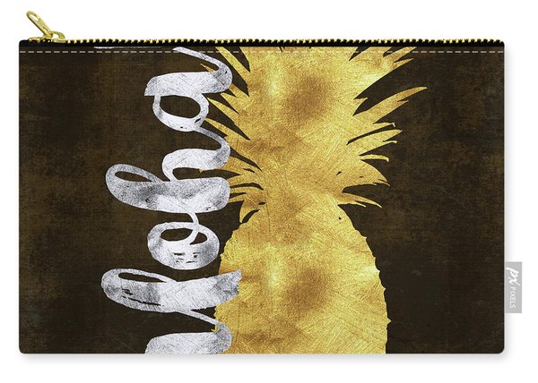 Gold And Silver Aloha Pineapple Tropical Fruit Of Hawaii Carry-all Pouch