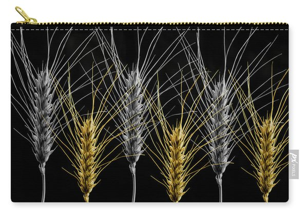 Gold And Silver Wheat Carry-all Pouch