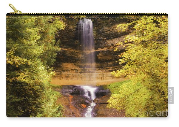 Gold At Munising Falls Carry-all Pouch