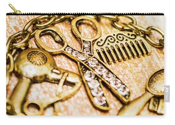 Gold Class Hair Styling Background Carry-all Pouch