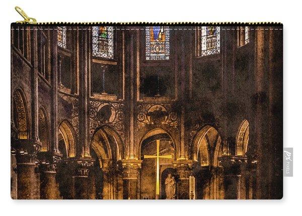 Paris, France - Gold Cross - St Germain Des Pres Carry-all Pouch