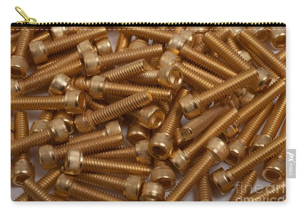 Gold Plated Screws Carry-all Pouch