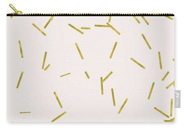 Gold Stick Confetti Print On Light Creme Carry-all Pouch