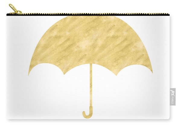 Gold Umbrella- Art By Linda Woods Carry-all Pouch
