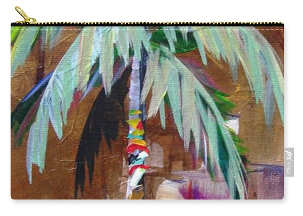 Golden Amethyst Palm Carry-all Pouch