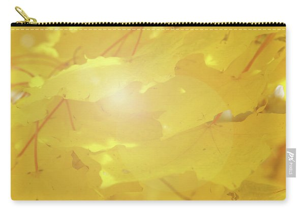 Golden Autumn Leaves Carry-all Pouch