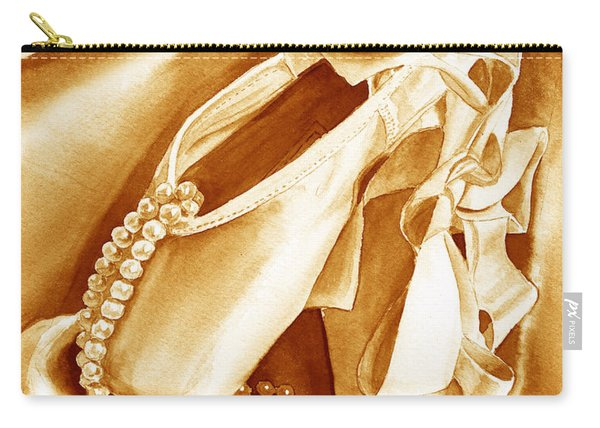 Golden Ballet Slippers Carry-all Pouch
