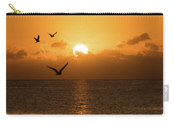 Golden Birds Sunrise Delray Beach Florida Carry-all Pouch