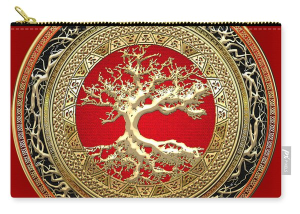 Golden Celtic Tree Of Life  Carry-all Pouch