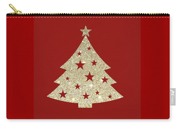Golden Christmas Tree Carry-all Pouch