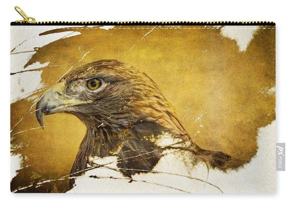 Golden Eagle Grunge Portrait Carry-all Pouch