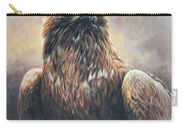 Golden Eagle Portrait Carry-all Pouch