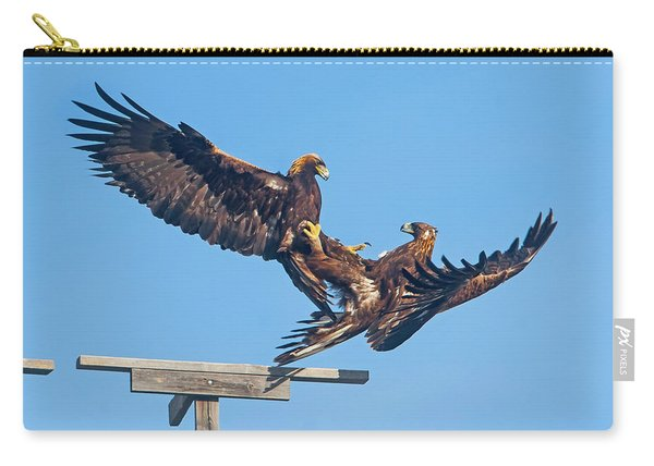 Golden Eagle Courtship Carry-all Pouch