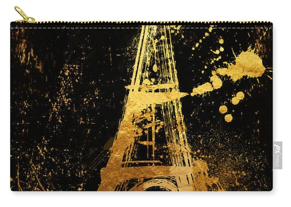 Golden Eiffel Tower Paris Carry-all Pouch