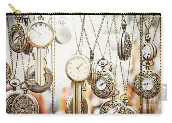 Golden Faces Of Time Carry-all Pouch