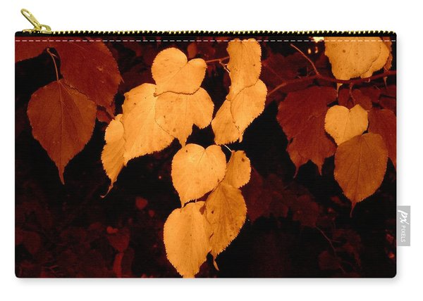 Golden Fall Leaves Carry-all Pouch