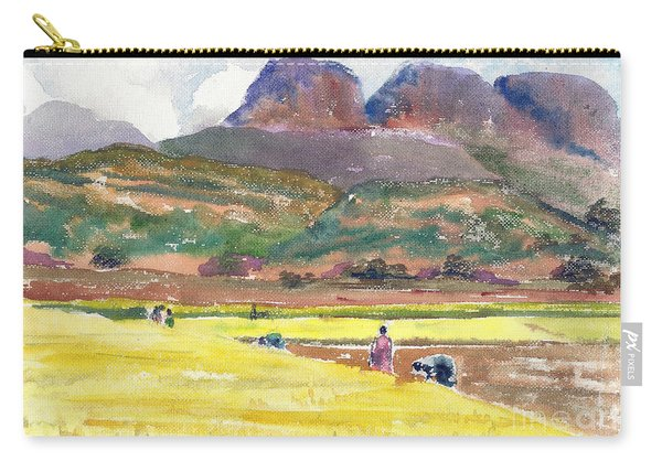 Golden Fields And The Mountains Carry-all Pouch