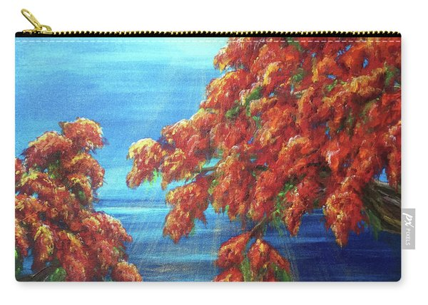 Golden Flame Tree Carry-all Pouch
