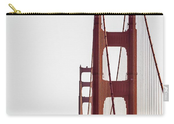 Golden Gate Black And Red Carry-all Pouch