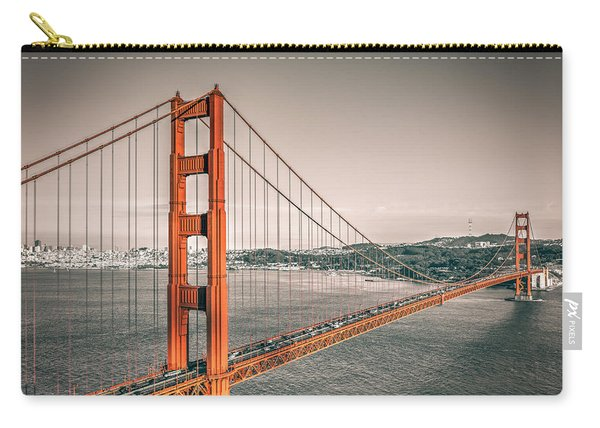 Golden Gate Bridge Selective Color Carry-all Pouch