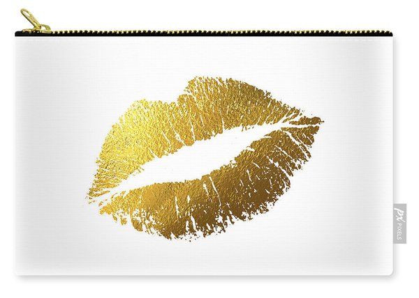 Gold Lips Carry-all Pouch