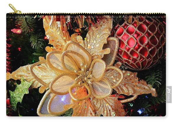 Golden Glitter Christmas Ornaments Carry-all Pouch