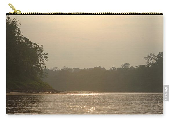 Golden Haze Covering The Amazon River Carry-all Pouch