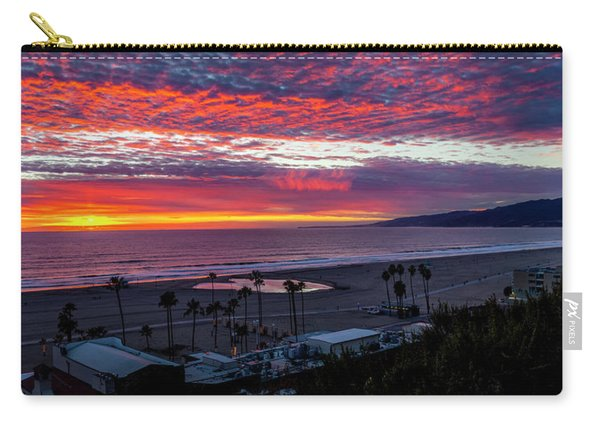 Golden Horizon At Sunset -  Panorama Carry-all Pouch