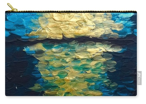 Golden Moon Reflection Carry-all Pouch
