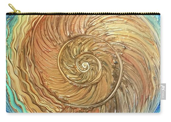 Golden Nautilus Carry-all Pouch