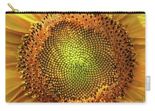 Golden Spiral Seed Arrangement Carry-all Pouch