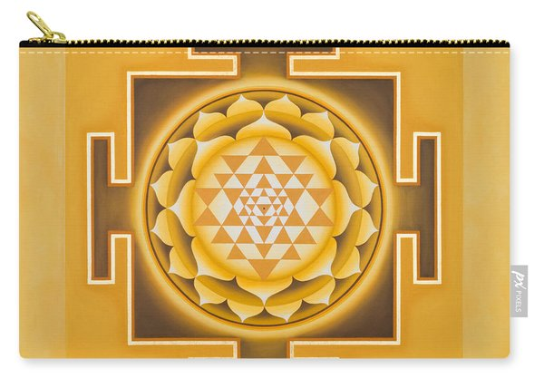 Golden Sri Yantra - The Original Carry-all Pouch