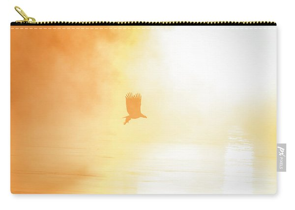 Golden Sunrise And Eagle  2016 Carry-all Pouch