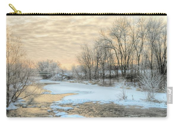 Golden Sunrise Signed Carry-all Pouch