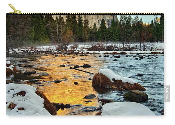 Golden Sunset - El Capitan In Yosemite National Park. Carry-all Pouch