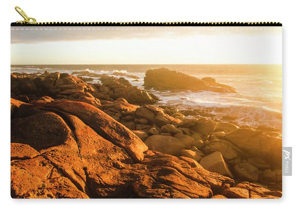Golden Tasmania Coastline Carry-all Pouch