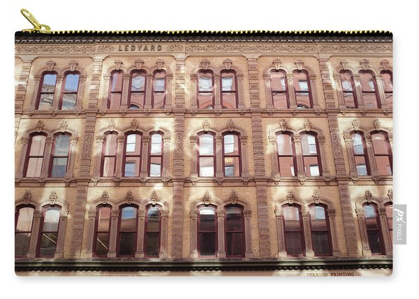 Golden Wall Of Windows And Architecture Light In Grand Rapids Michigan Carry-all Pouch