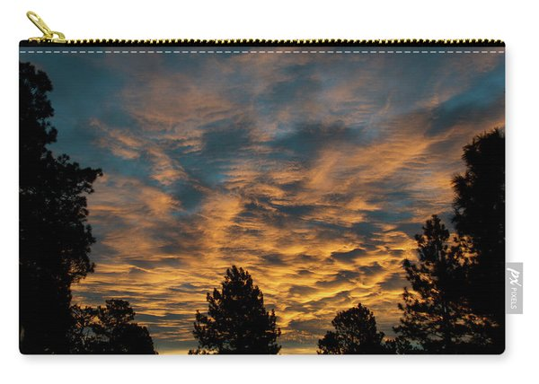 Carry-all Pouch featuring the photograph Golden Winter Morning by Jason Coward
