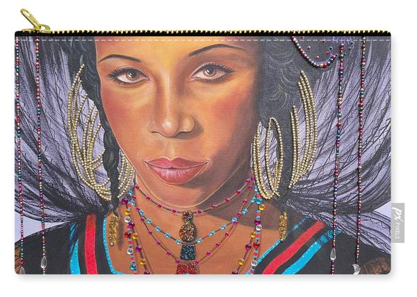 Gracious Golden Wodaabe Girl           From The Attitude Girls  Carry-all Pouch