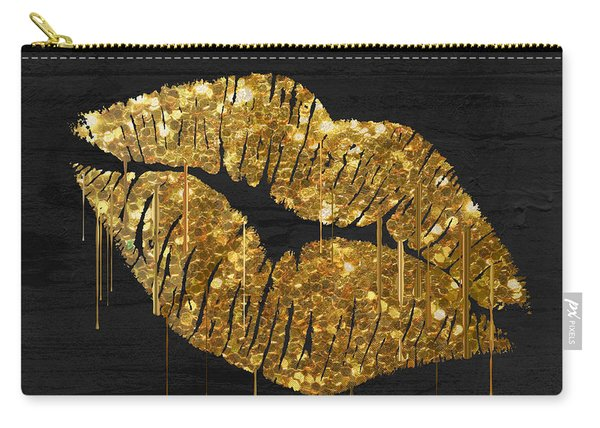 Gold Lipstick Carry-all Pouch