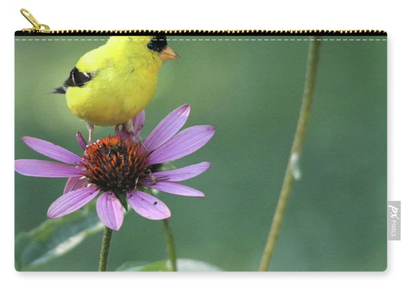 Goldfinch On A Coneflower Carry-all Pouch