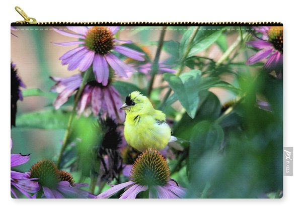 Goldfinch On Coneflowers Carry-all Pouch